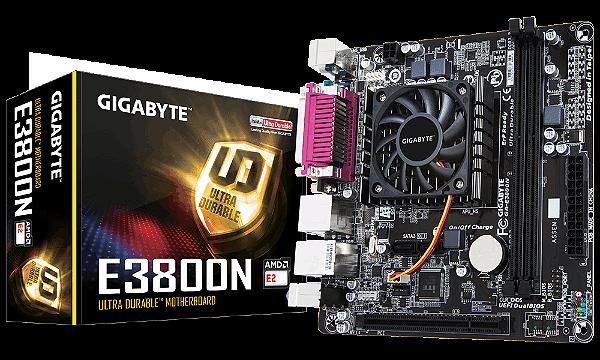 PLACA MAE COM PROCESSADOR MINI-ITX E3800N DDR3 GIGABYTE