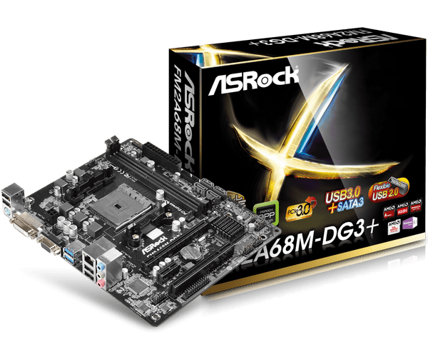 PLACA MAE FM2 MICRO ATX FM2A68M-DG3 DDR3 VGA, DVI-D ASROCK