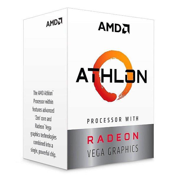 PROCESSADOR AM4 ATHLON 200GE 3.2 GHZ 5 MB CACHE YD200GC6FB DUAL CORE AMD
