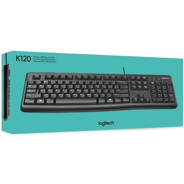 TECLADO USB K120 PRETO LOGITECH