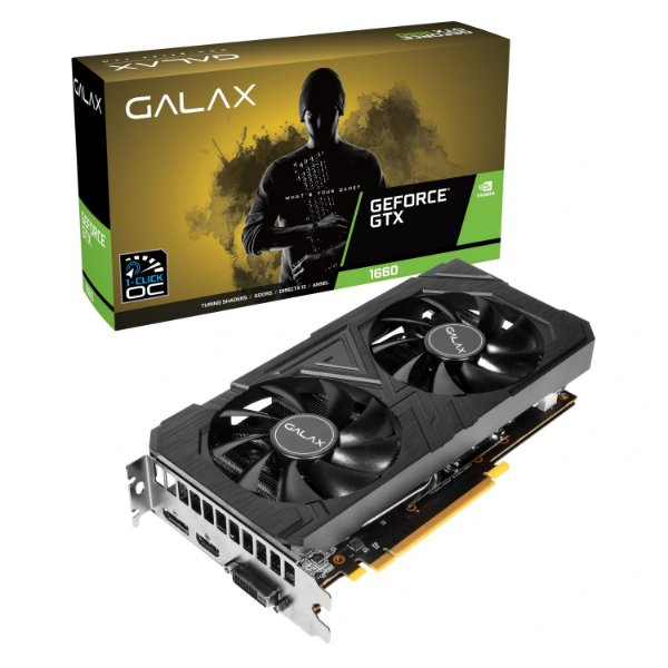 PLACA DE VÍDEO GEFORCE GTX 1660 6GB ENTUSIASTA 192BIT GALAX