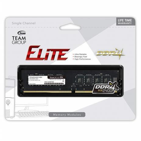 MEMORIA 8GB DDR4 2400 MHZ ELITE TEAMGROUP BOX
