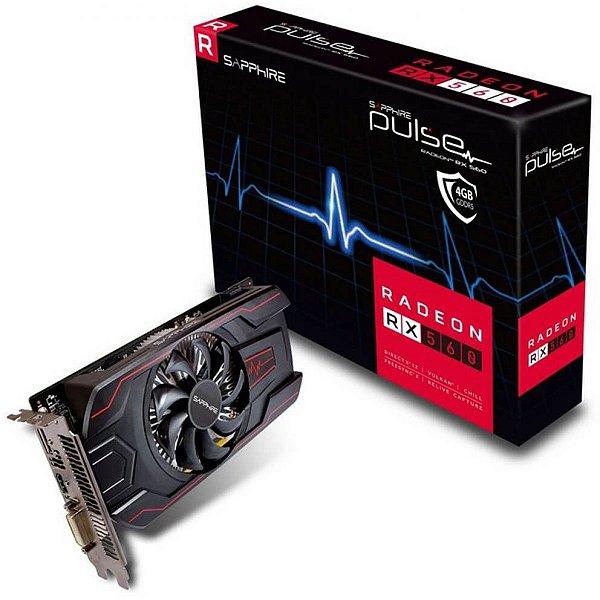 PLACA DE VÍDEO 4GB RX 560 GDDR5 RADEON PULSE SAPPHIRE