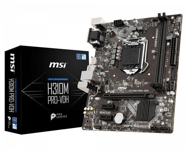 PLACA MAE 1151 ATX H310M PRO-VDH PLUS DDR4 VGA/DVI-D/HDMI MSI BOX