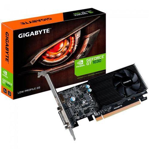 PLACA DE VIDEO 2GB PCIEXP GT 1030 GV-N1030SL-2GL 64BITS GDDR5 LOW PROFILE GIGABYTE BOX