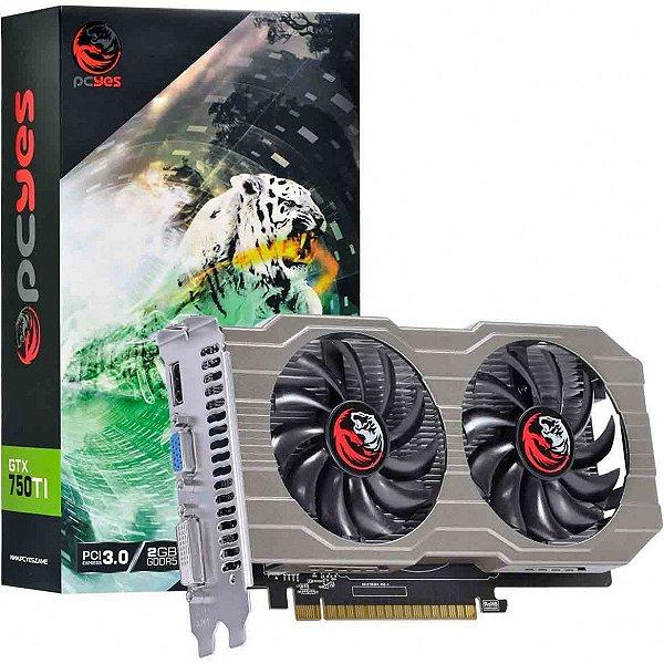 PLACA DE VIDEO 2GB PCIEXP GTX 750 TI 128BITS DDR5 PCYES BOX