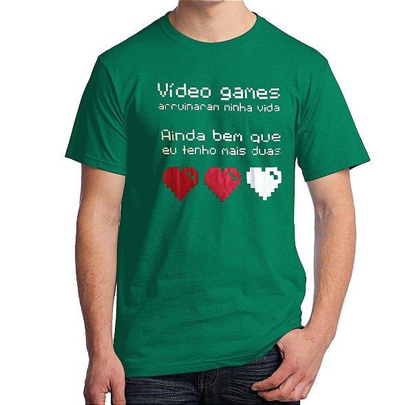 Camiseta Vídeo Games Arruinaram Minha Vida