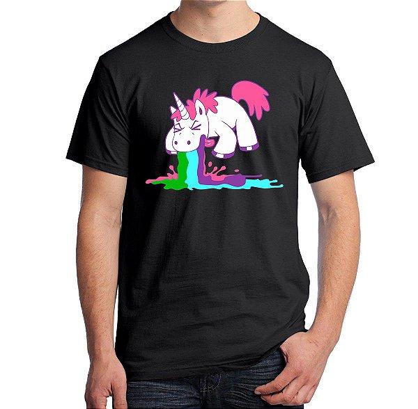 Camiseta Unicórnio Vomitando