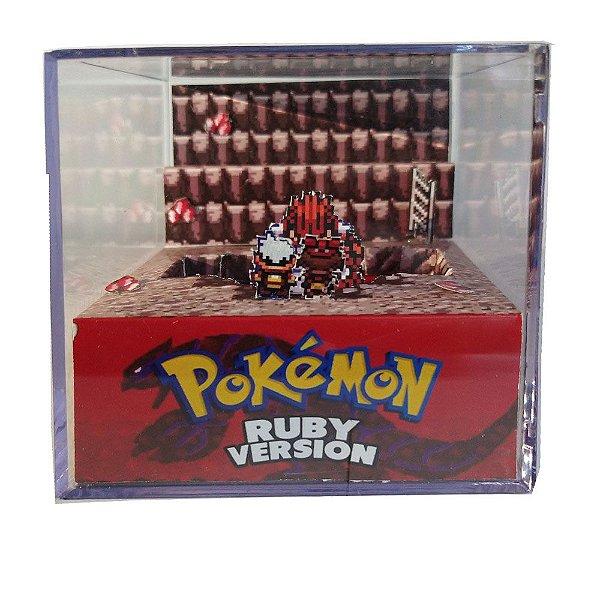 Diorama Cubo Pokemon Ruby