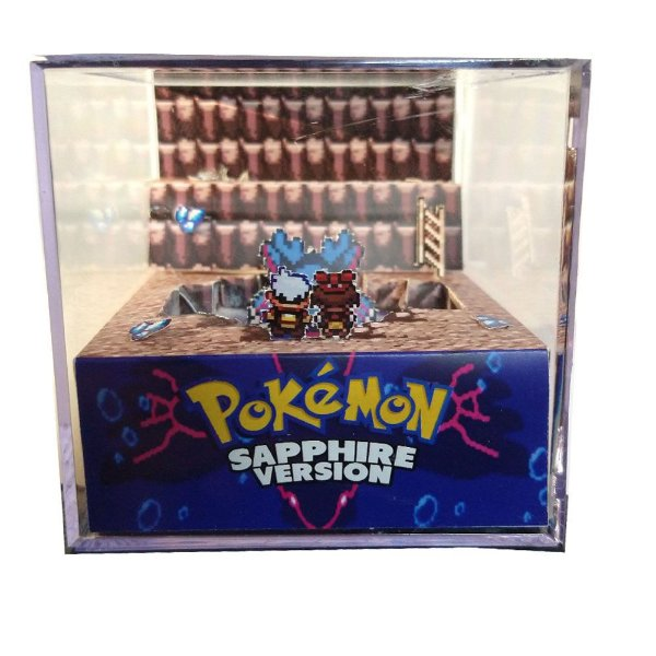 Diorama Cubo Pokemon Shappire