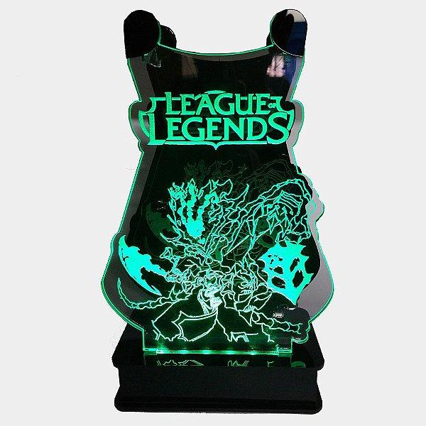 Suporte Headset  League of Legends Com Led - THRESH