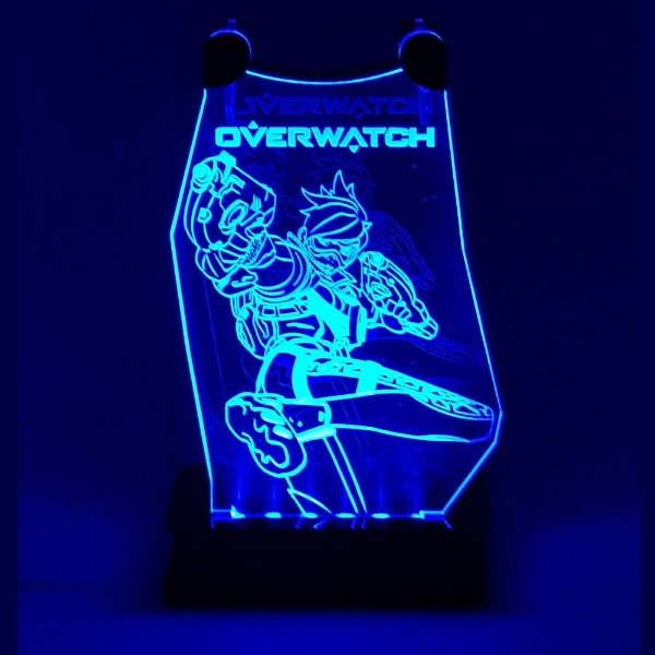 Suporte Headset Overwatch Com Led - TRACER