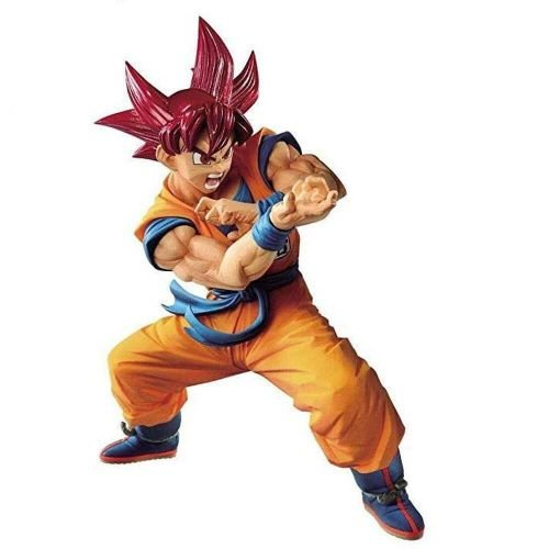 ACTION FIGURE DRAGON BALL SUPER - GOKU SUPER SAYAJIN GOD - BLOOD OF SAIYANS SPECIAL V