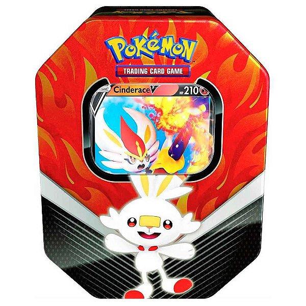 Deck de Lata Pokémon Parceiros de Galar - Cinderace (RED)