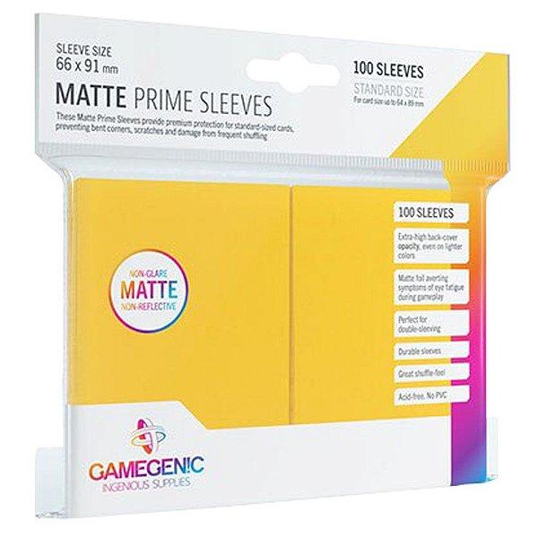 Sleeves Gamegenic Matte Prime (Amarelo)