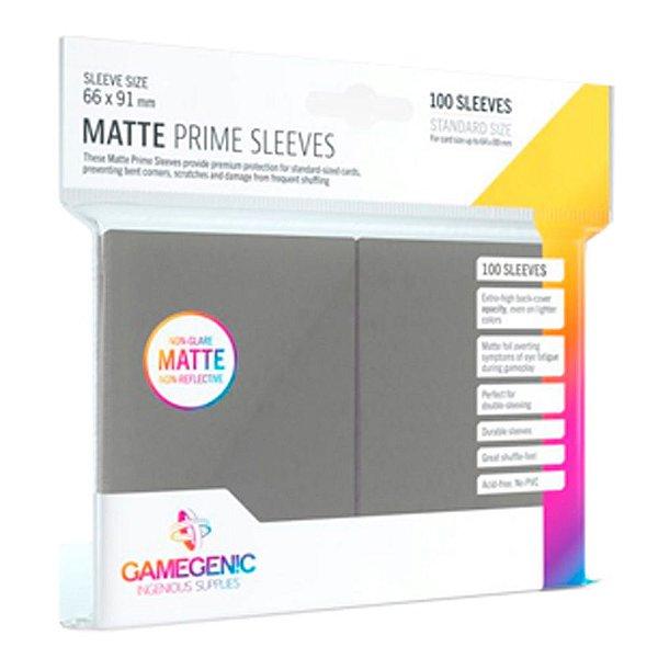 Sleeves Gamegenic Matte Prime (Cinza Escuro)