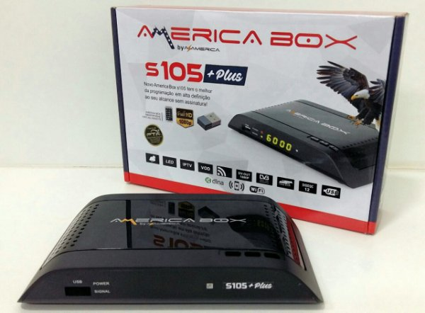 AMERICABOX S105 + PLUS - IKS / SKS / CS / WI-FI - (ACM)