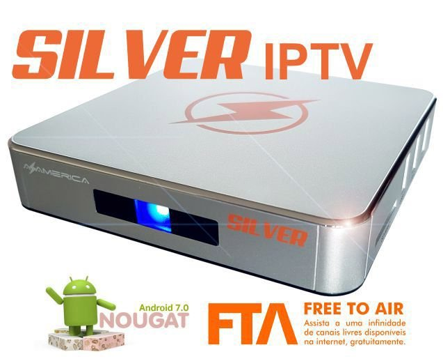 AZAMERICA SILVER IPTV/ANDROID 7.1(SOMENTE INTERNET)