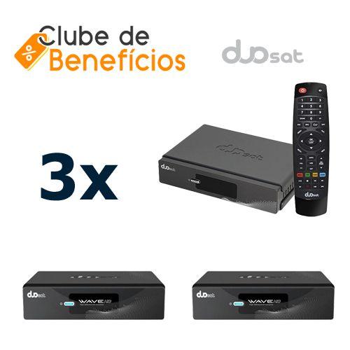 DUOSAT WAVE HD - 3 PEÇAS - DESCONTO (ATACADO)
