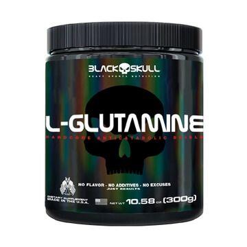 L- Glutamine 300g - Black Skull
