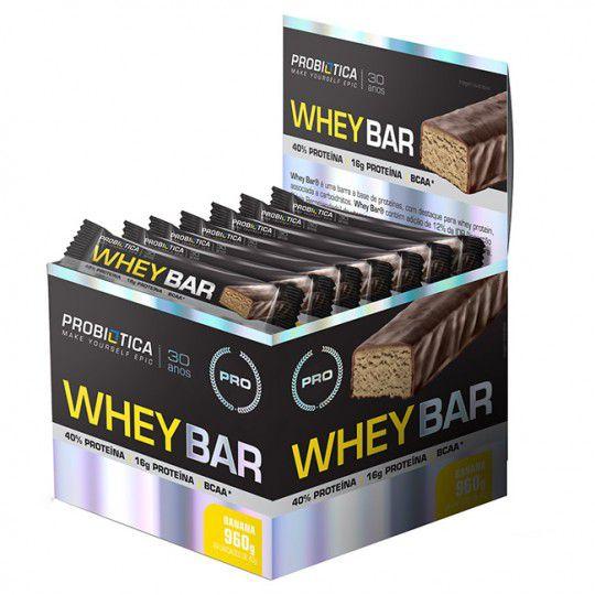 Caixa Whey Bar 24 Unidades - Probiótica