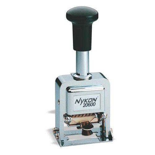Carimbo Numerador Automático Nykon 20600 6 Dígitos Medida da Impressão: 5mmx21mm