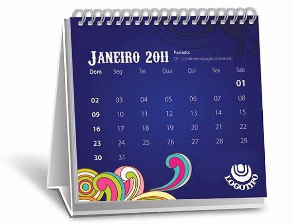 Calendário de mesa Curitiba