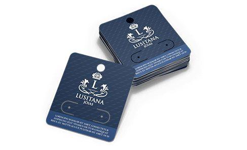Cartela Personalizada para Bijuteria 5000 unidades