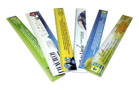 Réguas Personalizadas PVC 0,3mm 100 unidades