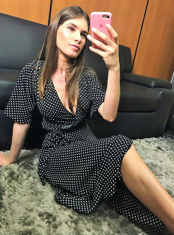 d9ff0f337 VESTIDO POÁ TRANSPASSADO - Leona Closet - Loja Virtual da Moda Feminina