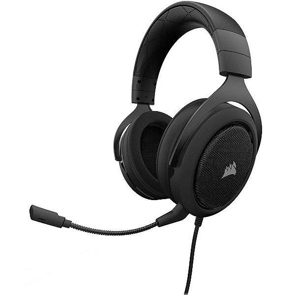 Headset Gamer Corsair HS50 Estéreo Carbon