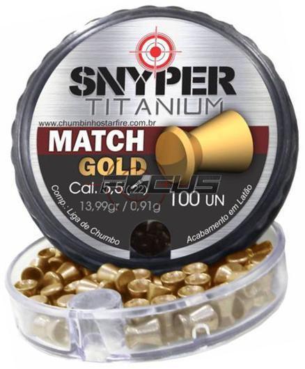 CHUMBINHO SNYPER MATCH GOLD 5.5MM C/100PC