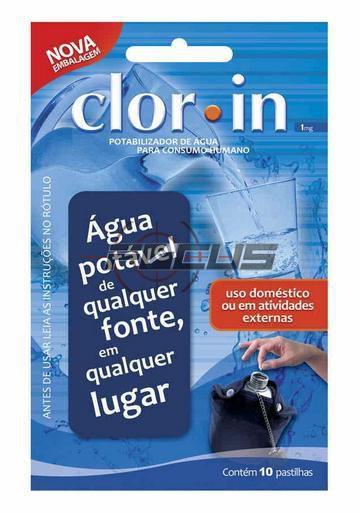POTABILIZADOR DE AGUA CLORIN 1MG C/10PC NTK