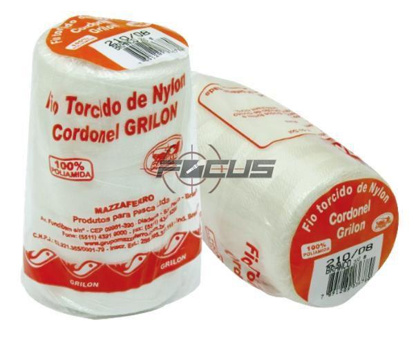 FIO TORCIDO BRANCO GRILON 200GR. 210/08