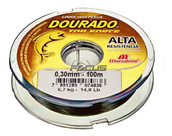 LINHA DOURADO TOP FORCE VERDE OLIVA 100MTS 0.45 C/20PC
