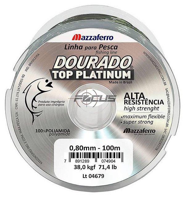 LINHA DOURADO TOP PLATINUM 100MTS 0.50 C/10PC