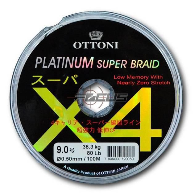 LINHA MULTIF. PLATINUM X4 0.35MM 40LBS 100M
