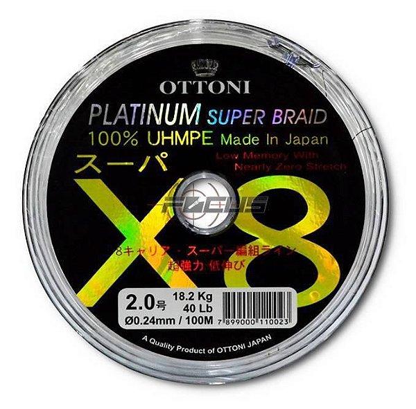 LINHA MULTIF. PLATINUM X8 0.40MM 70LBS 100M