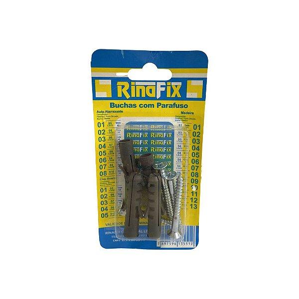 Kit Parafuso 5,5x50 com Bucha 10 Encartelado com 4 peças Rinafix
