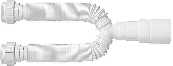 Sifão Tubo Extensivo Duplo Universal Branco 30205 Blukit
