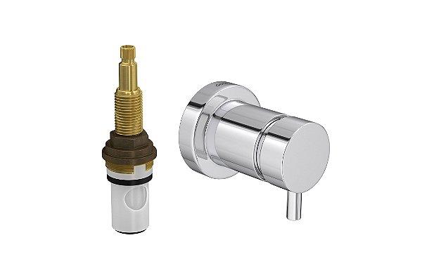 """Acabamento para Registro 4916 C72 PQ de Pressão com Mecanismo MVR 1/2"""" a 1"""" Spin Deca"""