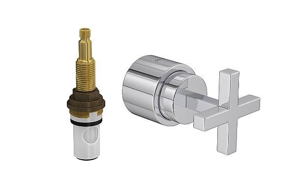 """Acabamento para Registro 4916 C85 PQ de Pressão com Mecanismo MVR 1/2"""" a 1"""" Quadratta Clássica Deca"""
