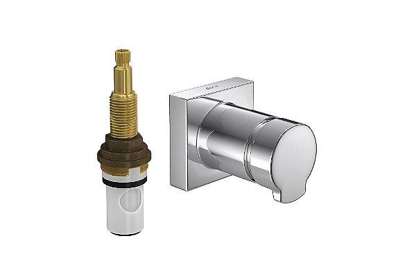 """Acabamento para Registro 4916 C LNQ PQ de Pressão com Mecanismo MVR 1/2"""" a 1"""" Link Quadratta Deca"""