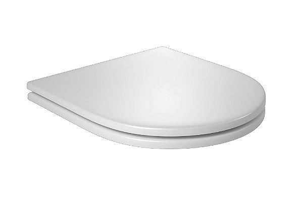 Assento Poliéster com Fixação Cromada Slow Close Carrara/Duna/Lk/Nuova/Level AP.237.17 Branco Deca