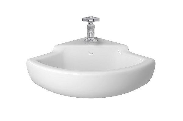 Lavatório para Banheiro de Canto L-101 GE17 Izy 30x30x41cm Branco Deca