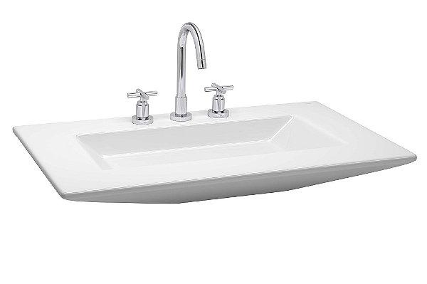 Lavatório para Banheiro Suspenso Válvula Slim L-99 GE17 81x51cm Branco Deca