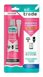 Silicone Banheiros e Cozinhas 50g Incolor Sil Trade