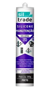 Silicone Manutenção 280g Preto Sil Trade