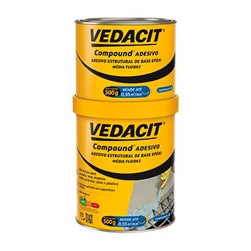 Compound Adesivo Estrutural A+B 1kilo Vedacit