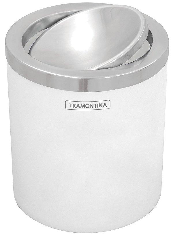Lixeira Branca com Tampa Basculante 5 litros Tramontina